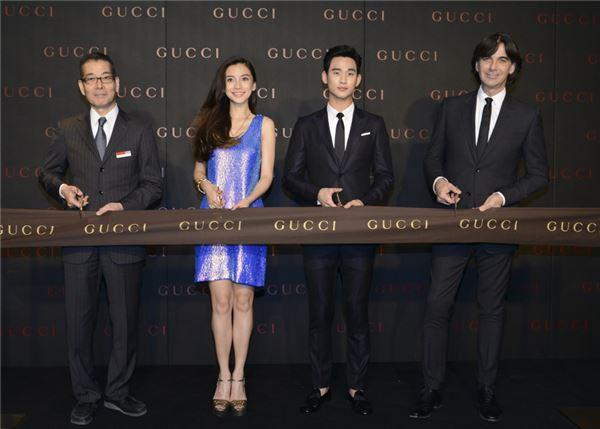 구찌, 배우 김수현과 함께 중국 아동 돕는다
