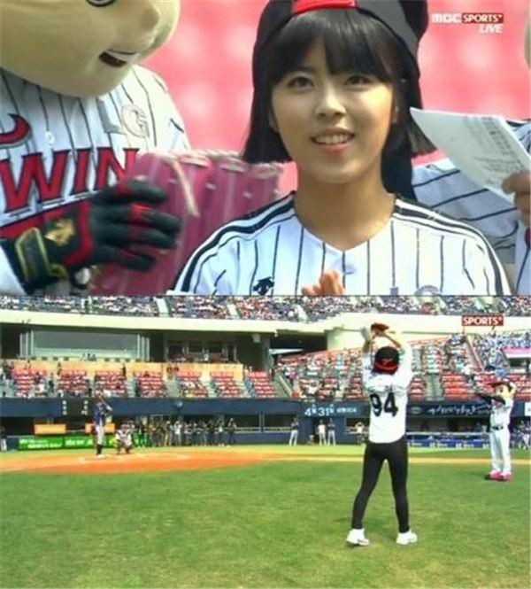 """도희, 작지만 당찬 시구…""""응답하라 야구팬들"""""""