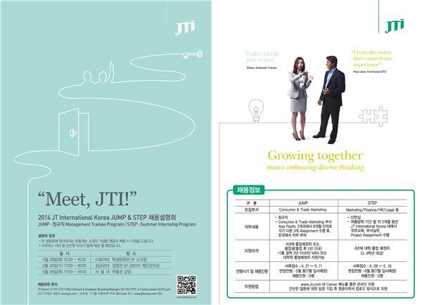 JTI 코리아, 글로벌 인재 공개 채용