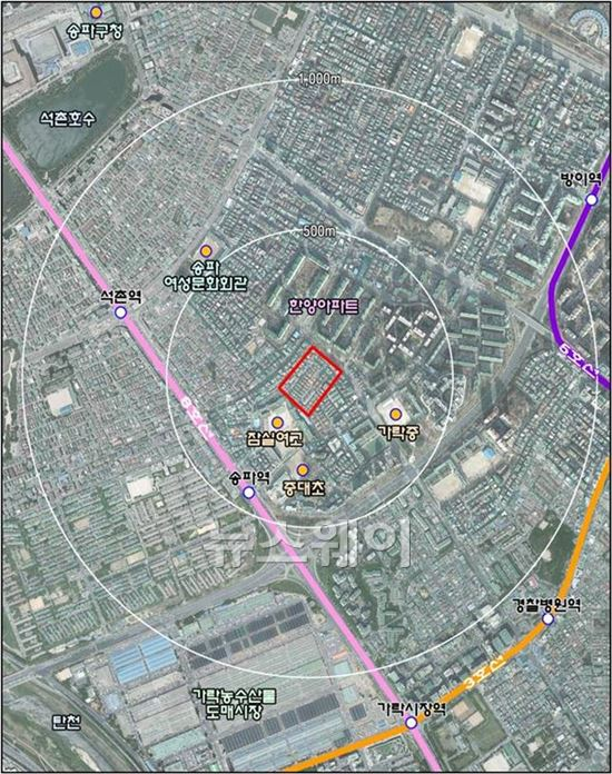 서울 송파역 인근 최고 14층 짓는다