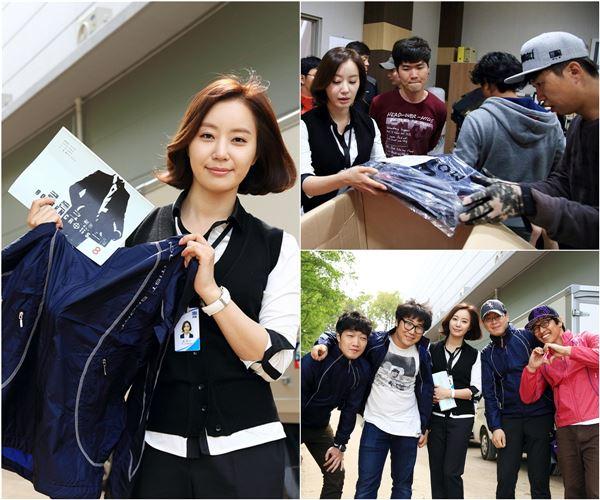 '골든 크로스' 송계장 역 반민정, 꽃샘추위에 130人 스태프복 선물
