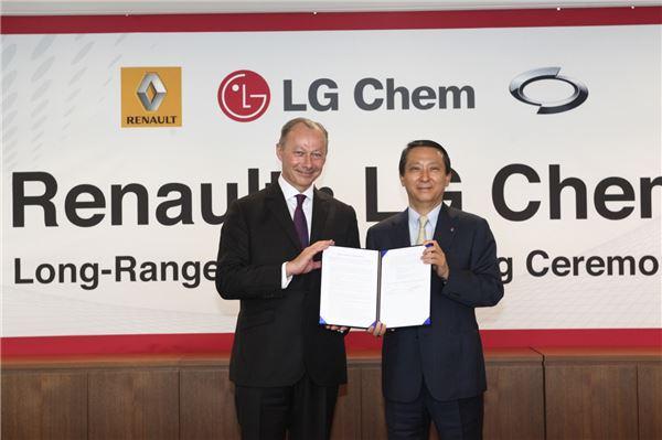 르노그룹-LG화학, 장거리 전기차 개발에 협력 약속