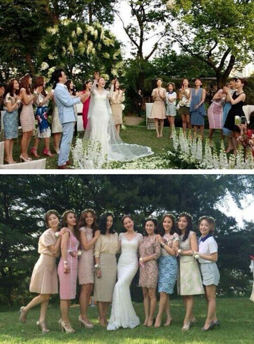 엄지원 결혼식, '하미모' 사진 화재…연예계 미녀 스타 다 모였네!