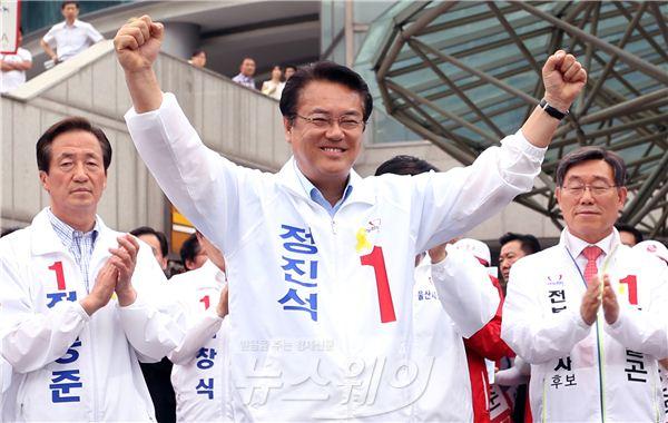 """정진석 후보 """"최선을 다 하겠습니다!"""""""