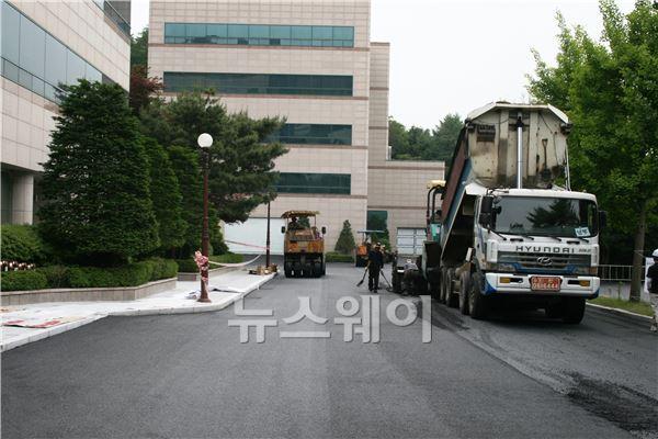 현대건설, '폐차부품 활용 도로포장공법' 개발