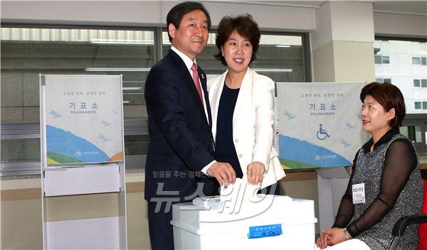 유정복 인천광역시 후보 투표