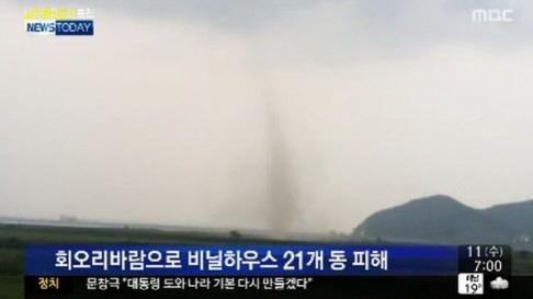 '일산 토네이도' 발생, 1명 부상·재물 피해 쏟아져…10분만에 '초토화'