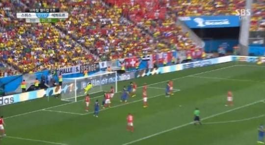 [브라질월드컵]에콰도르, 에네르 발렌시아 헤딩 선취골