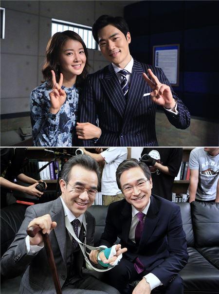 '골든 크로스' 출연진들 마지막 방송 인증샷 공개···'화사한 꽃미소 만발'