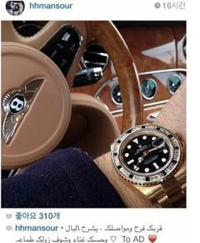 """'석유재벌' 만수르, 서민체험 """"겨우 10억으로 차와 시계를 사다니!"""""""