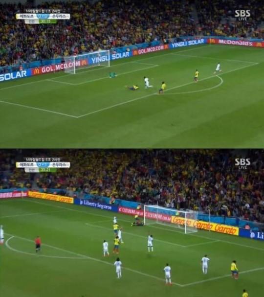 [브라질월드컵]온두라스 VS 에콰도르, 장군멍군 1-1 전반 종료