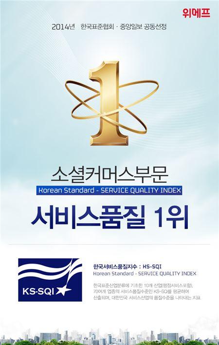위메프, '한국서비스품질지수' 소셜커머스 부문 1위