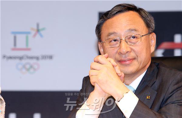 황창규 KT회장, 2018평창동계올림픽 생각 중?