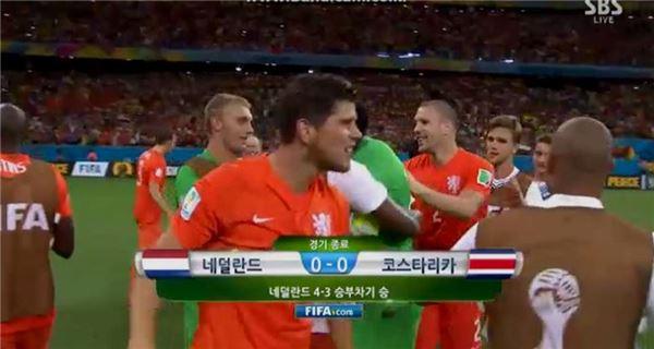 [브라질월드컵]네덜란드, 승부차기 접전 끝에 코스타리카 누르고 4강행