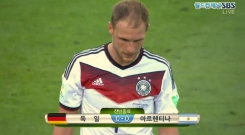 [브라질월드컵]독일-아르헨티나 결승전 전반 0-0마무리