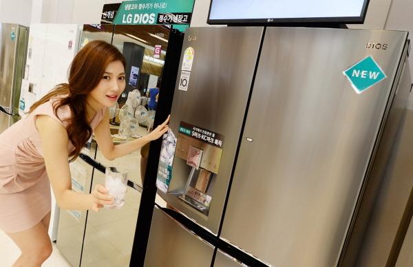 LG전자, '디오스 얼음 정수기냉장고' 판매 호조