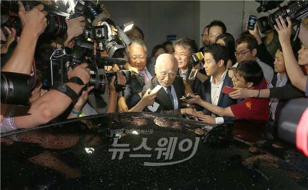 김우중 전 대우 회장을 향한 뜨거운 취재열기