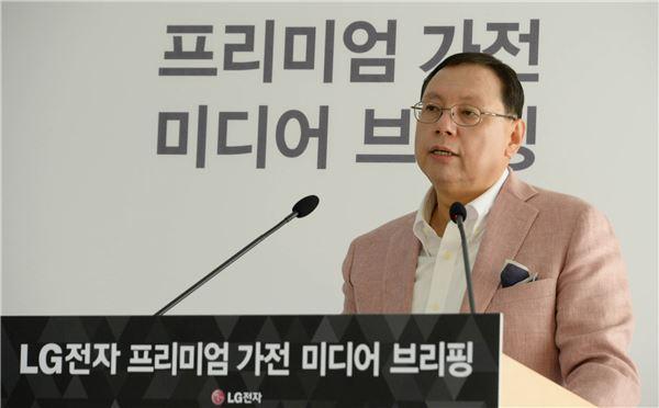 """조성진 LG전자 사장 """"'코드제로'로 청소기 역사 다시 쓴다"""""""