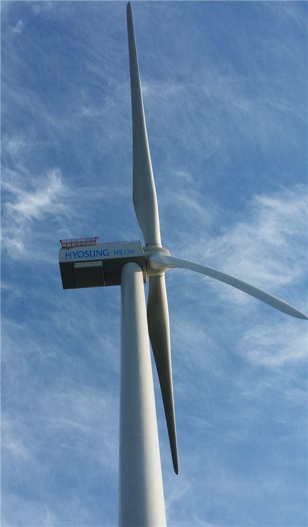 효성, 국내최초 5MW급 해상용 풍력발전시스템 국제인증 획득