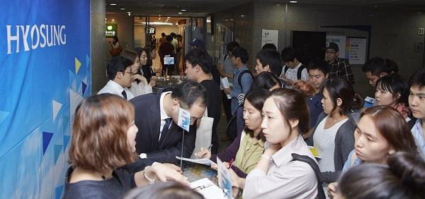 효성, 전국 13개 주요대학서 캠퍼스 리쿠르팅 진행