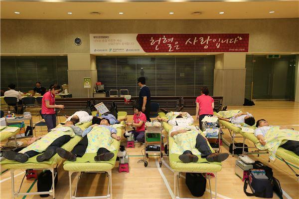 통합산은, 헌혈 캠페인 행사