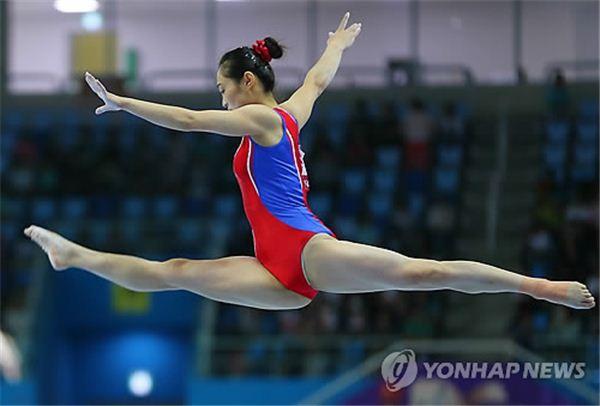 북한 홍은정, 도마 金메달 획득