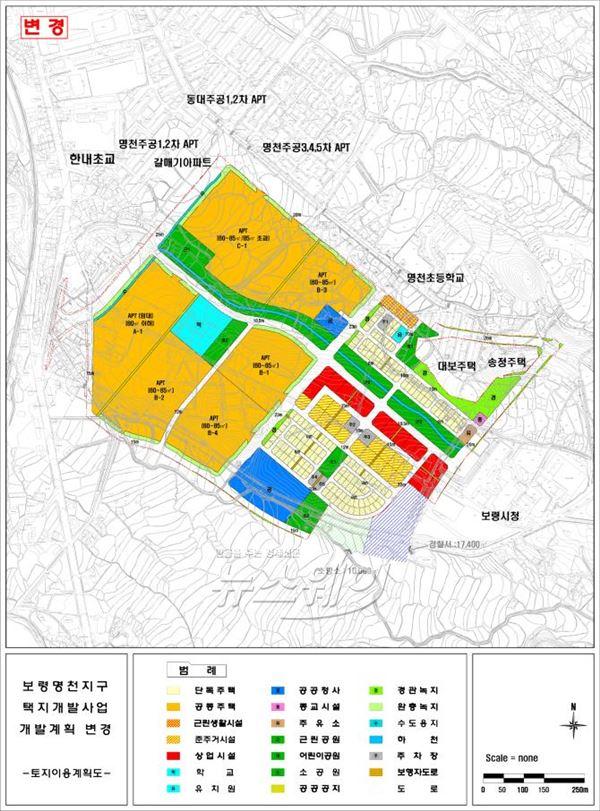 LH, 보령명천 공동택지개발사업 민간사업자 공모