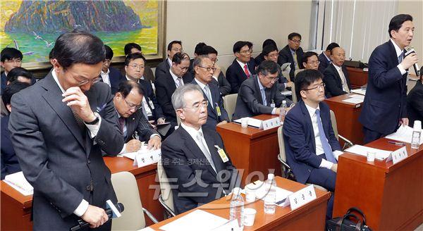 정무위 국정감사 참석한 임영록·이건호