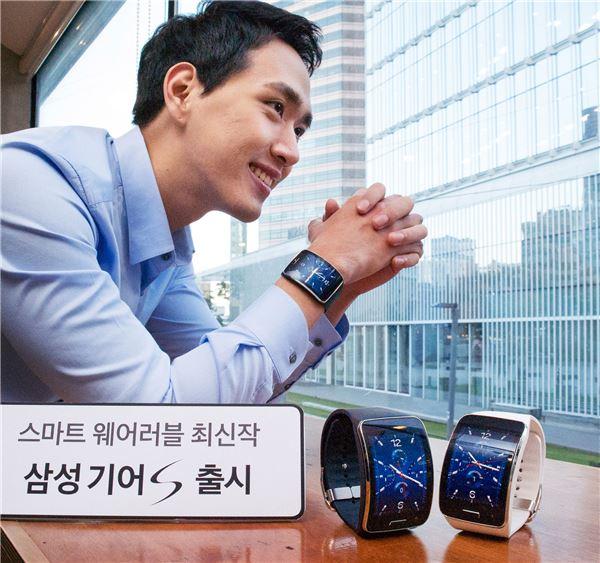 삼성전자, '진화된 웨어러블' 기어S 국내 공식 출시...29만7천원