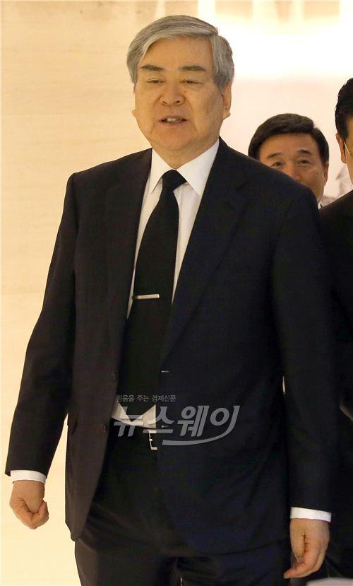 조문 마친 조양호 한진그룹 회장