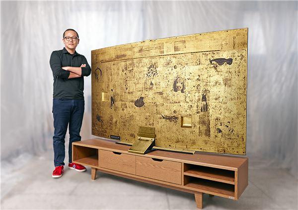 예술 작품이 된 삼성 커브드 UHD TV, 크리스티 홍콩 출품