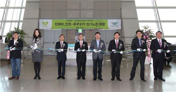 진에어, 인천~후쿠오카 정기 노선 취항…주 7회 운항