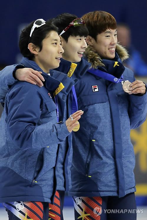 쇼트트랙 월드컵 男3000m, 이정수 곽윤기 신다운 '금은동'