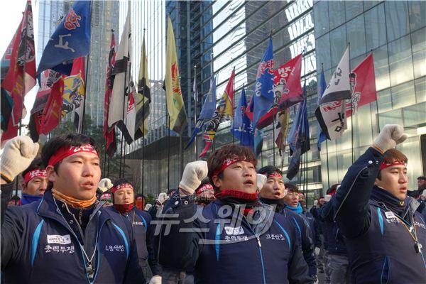 """삼성중공업노동자협의회 """"미래전략실 간섭·사찰 더 이상 좌시하지 않을 것"""""""