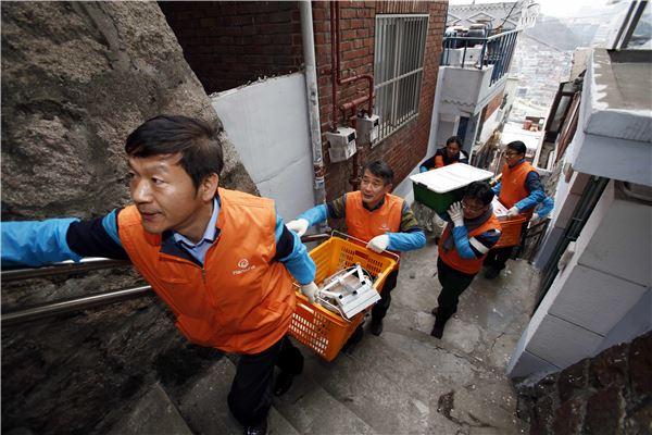 한화그룹 신임 임원들, 소외계층 찾아 봉사활동