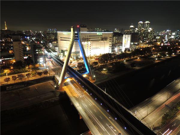 SK건설, 대구도시철도 3호선 신천횡단사장교 준공