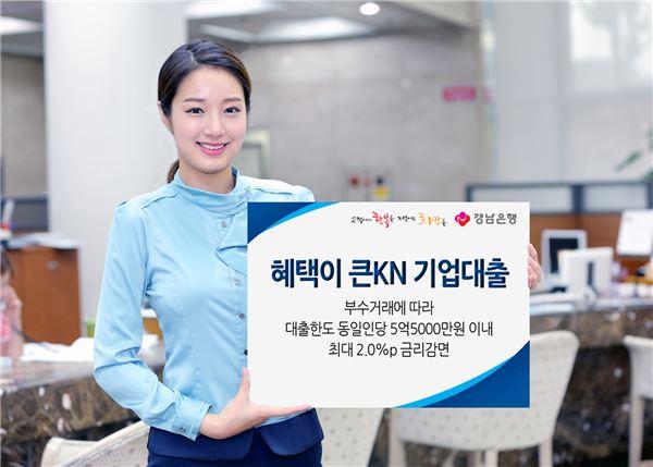 경남은행, 3000억원 한도 '혜택이 큰KN 기업대출' 출시