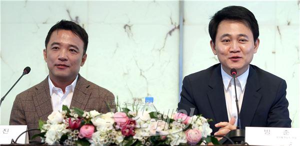 김택진 엔씨소프트 대표와 방준혁 넷마블게임즈 의장