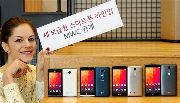 LG전자, MWC 2015서 새 보급형 스마트폰 라인업 공개