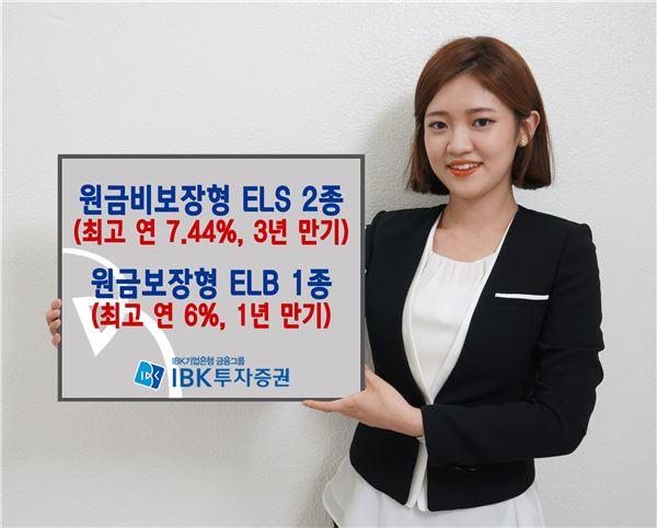 IBK투자證, ELS 2종·ELB 1종 공모