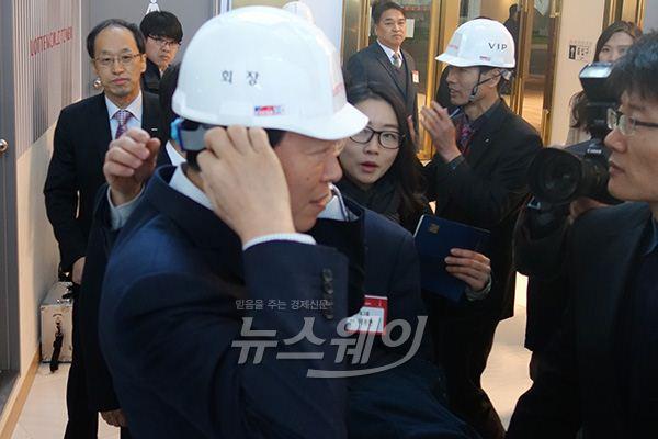 신동빈 롯데그룹 회장, 제 2롯데월드 100층 안전기원식 참석