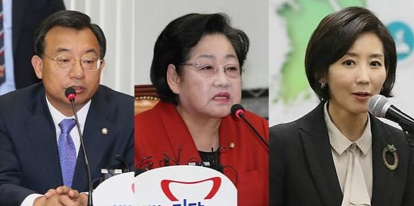 이정현-김을동-나경원, 새누리당 서구을 정승 후보 지원