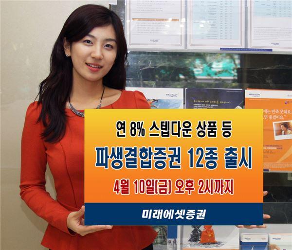 미래에셋證, 연 8% 스텝다운 상품 등 파생결합증권 12종 출시