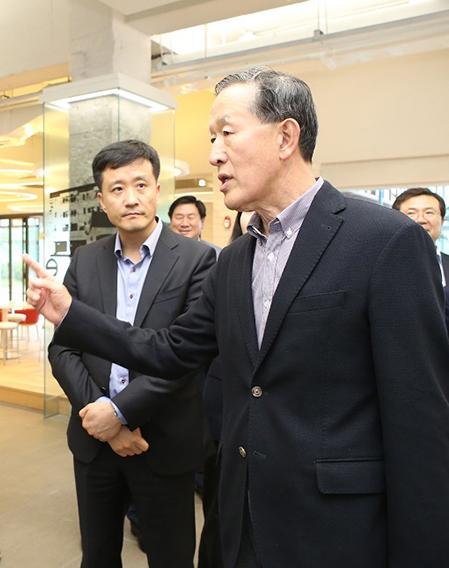 허창수 GS 회장, 전남 창조경제혁신센터 준비상황 점검