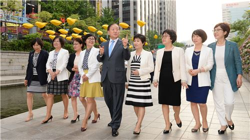 김주하 농협은행장, 여성 지점장들과 간담회 개최