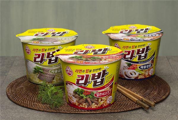 오뚜기, 라면과 밥 한번에 즐기는 간편한 '라밥3종' 출시