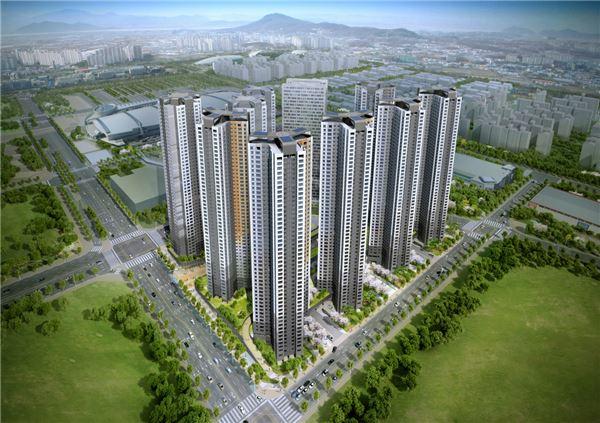 킨텍스 개발지구 첫 아파트 '킨텍스 꿈에그린' 모습 드러내