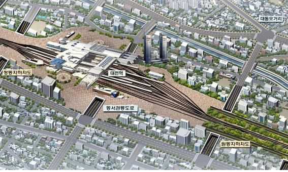 철도시설공단, 대전 '원동지하차도' 개통