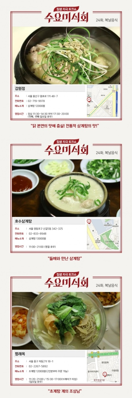 """오늘 초복, '수요미식회' 삼계탕 맛집 주목…네티즌 """"꼭 가봐야지"""""""