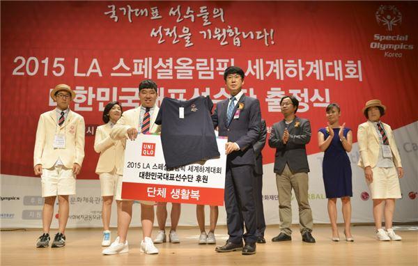 유니클로, LA 스페셜올림픽 한국선수단에 공식활동복 후원